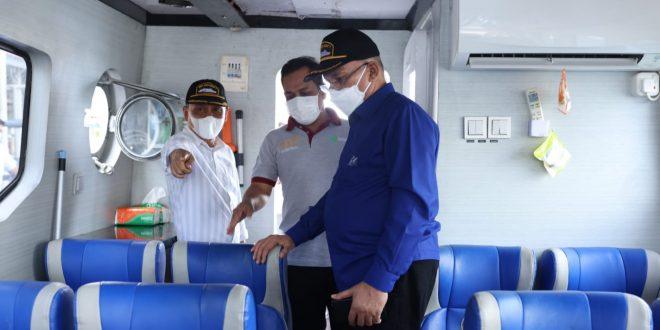 Sekda Aceh Tinjau Kapal Ambulance Laut, di Ulee Lheue