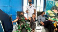 Koramil 05 Mesjid Raya Ikuti Bakti Sosial Donor Darah